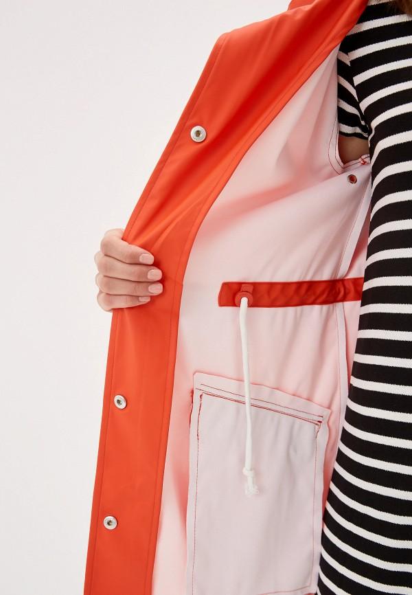 Фото 4 - женское пальто или плащ Only оранжевого цвета