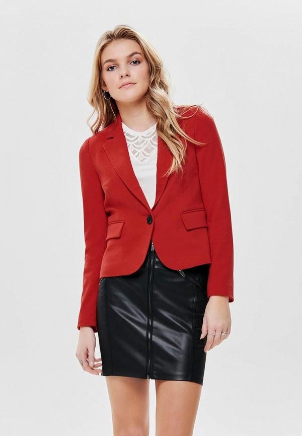 женский пиджак only, красный