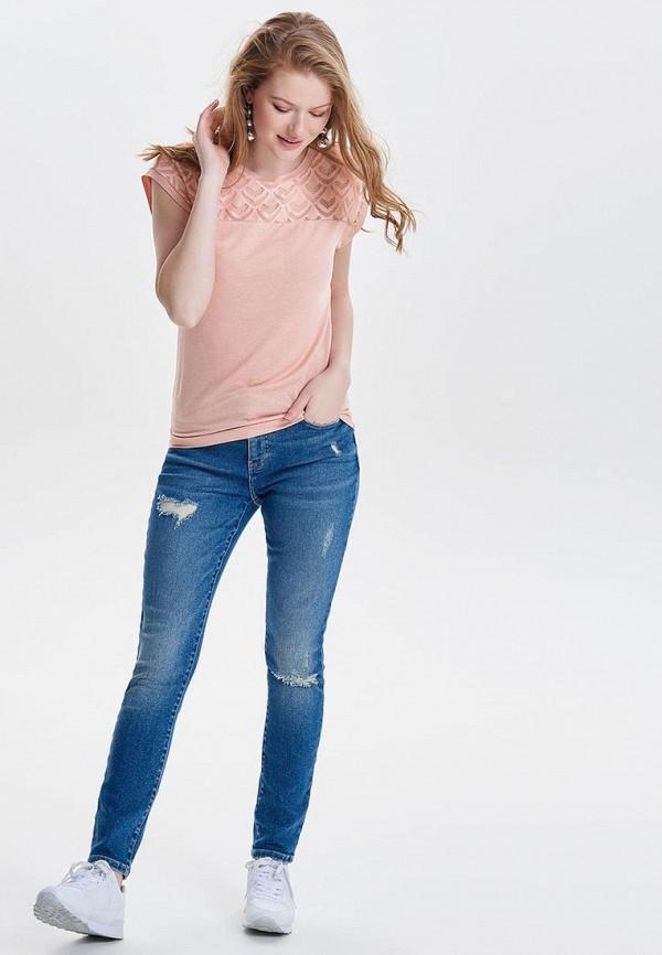 Фото 2 - женскую блузку Only розового цвета