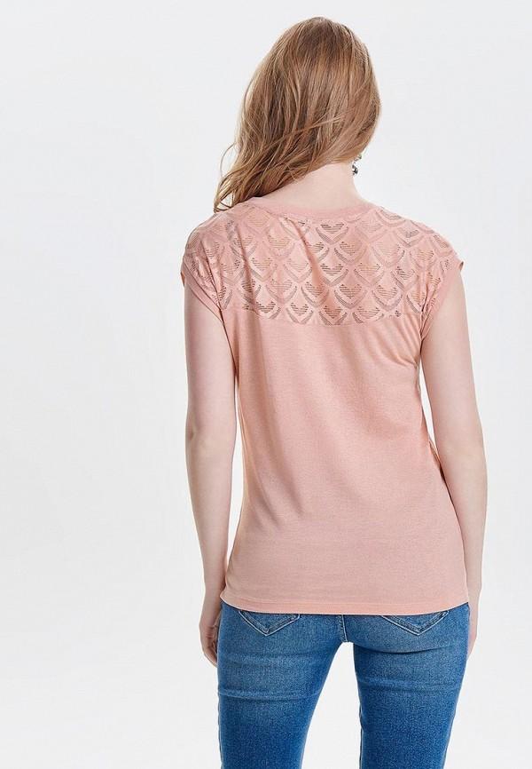 Фото 3 - женскую блузку Only розового цвета