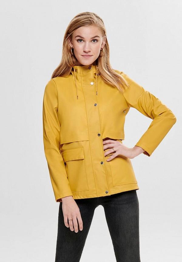 женская куртка only, желтая