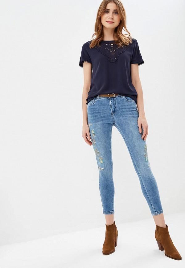 Фото 2 - женскую блузку Only синего цвета