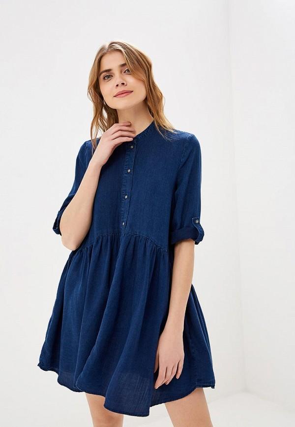 женское джинсовые платье only, синее