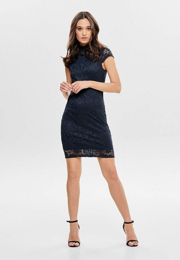 Фото 2 - женское вечернее платье Only синего цвета