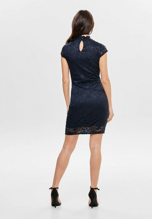 Фото 3 - женское вечернее платье Only синего цвета