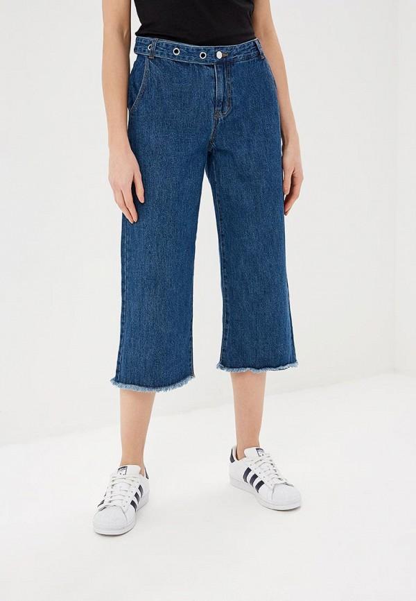 женские джинсы клеш only, синие