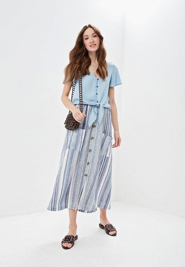 Фото 2 - женскую юбку Only синего цвета