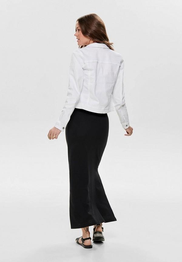 Фото 2 - Куртку джинсовая Only белого цвета