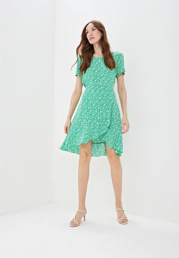 Фото 2 - женское платье Only зеленого цвета