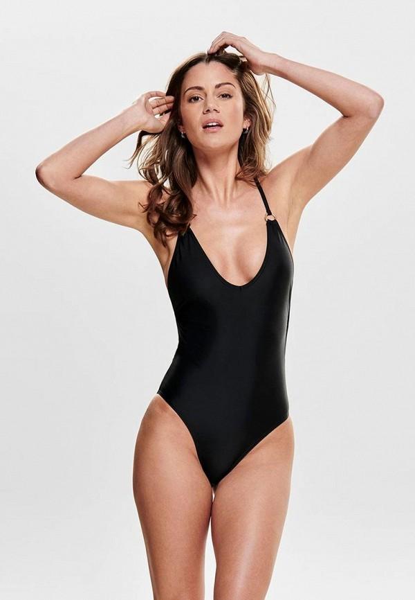 женский купальник only, черный