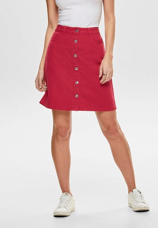 женская юбка only, красная