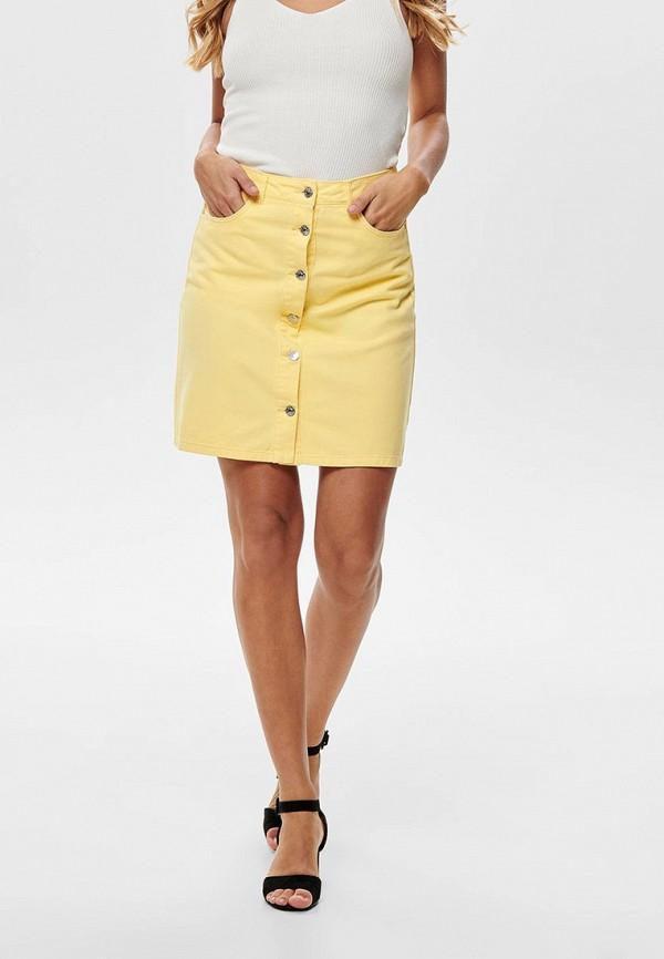 женская юбка only, желтая