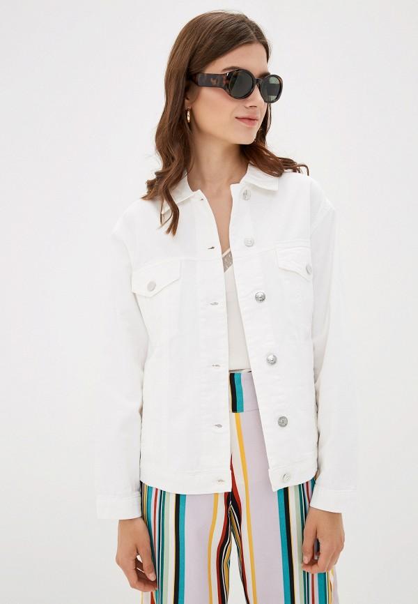 женская джинсовые куртка only, белая