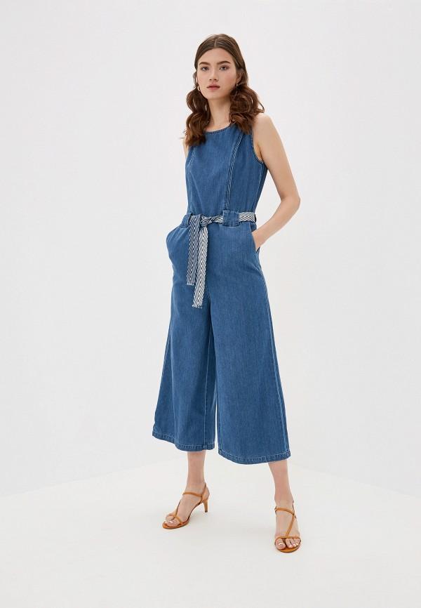 женский джинсовые комбинезон only, синий