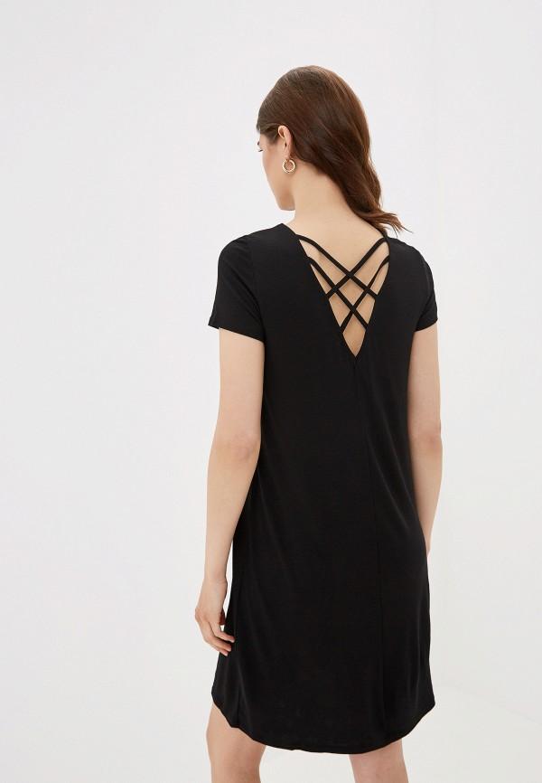 Фото 3 - женское платье Only черного цвета