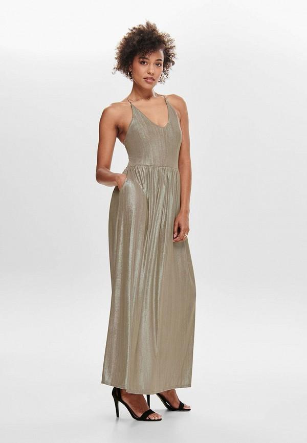 женское вечерние платье only, бежевое