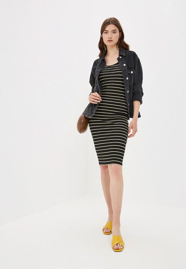 Фото 2 - женское платье Only черного цвета