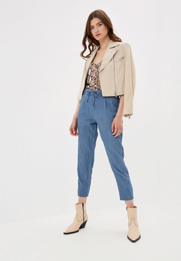 Фото 2 - женские брюки Only синего цвета