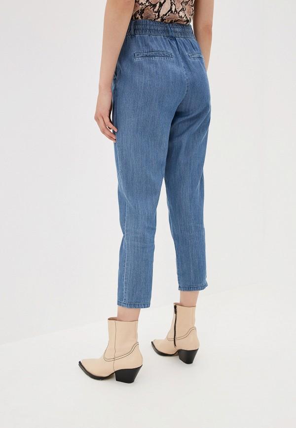 Фото 3 - женские брюки Only синего цвета