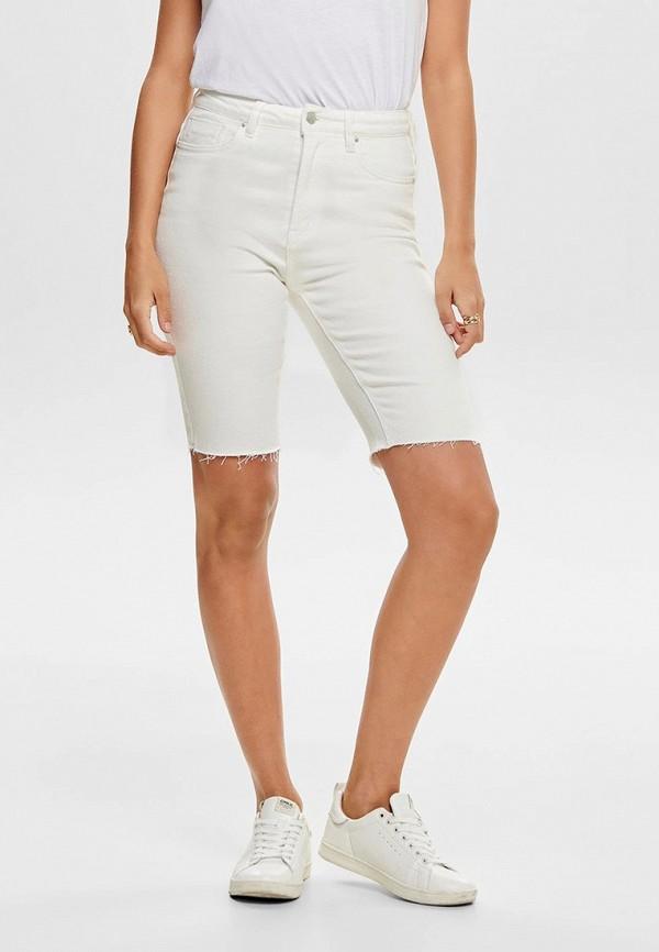 женские джинсовые шорты only, белые