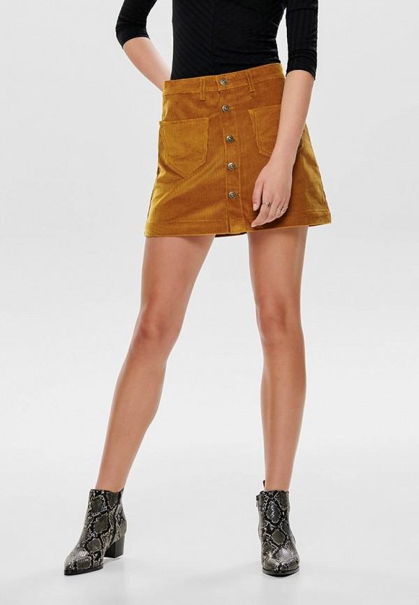 женская юбка only, коричневая