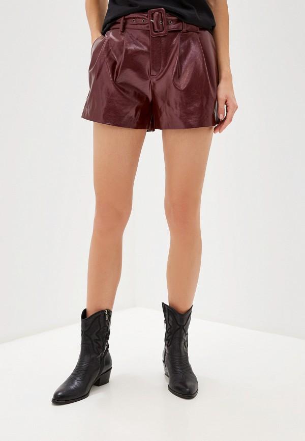женские шорты only, бордовые