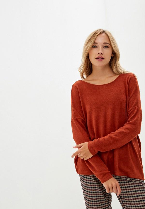 женский пуловер only, оранжевый