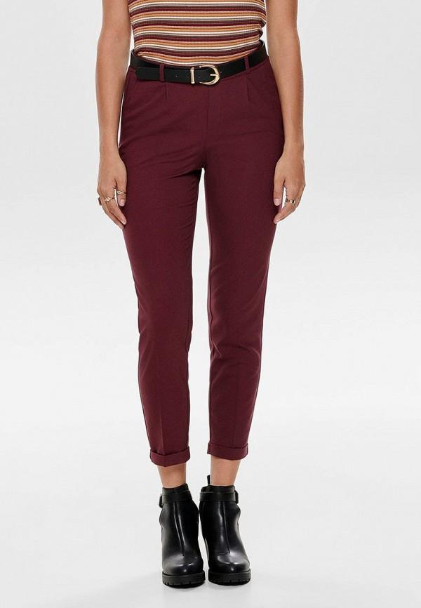 женские брюки only, бордовые