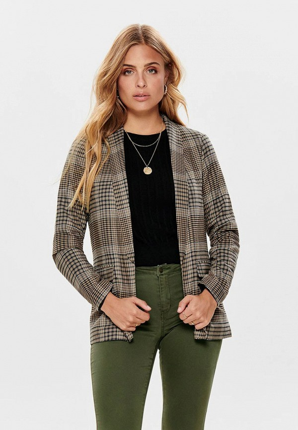 женский пиджак only, бежевый