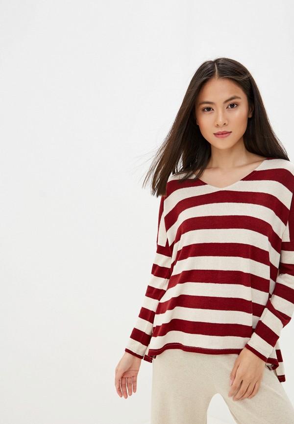 женский пуловер only, бордовый