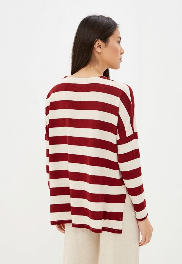 Фото 3 - женский пуловер Only бордового цвета
