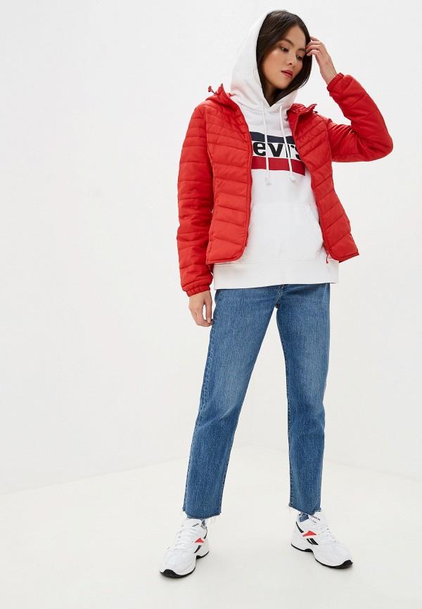 Фото 2 - Куртку утепленная Only красного цвета