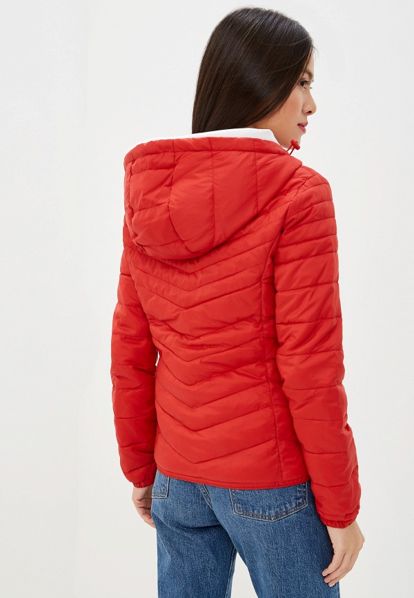 Фото 3 - Куртку утепленная Only красного цвета