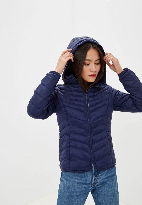 Фото - Куртку утепленная Only синего цвета