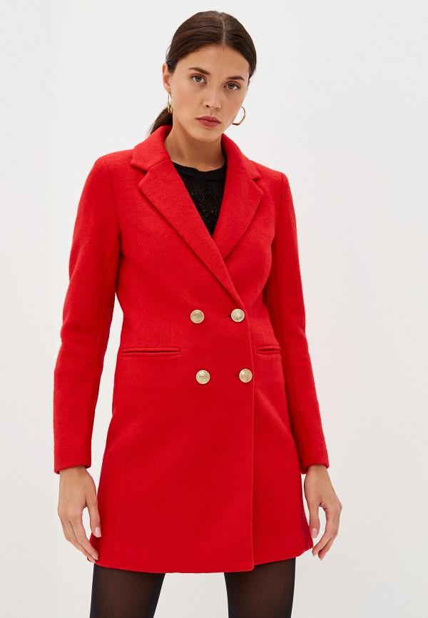 женское пальто only, красное