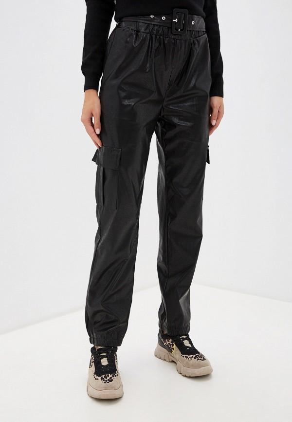 женские кожаные брюки only, черные