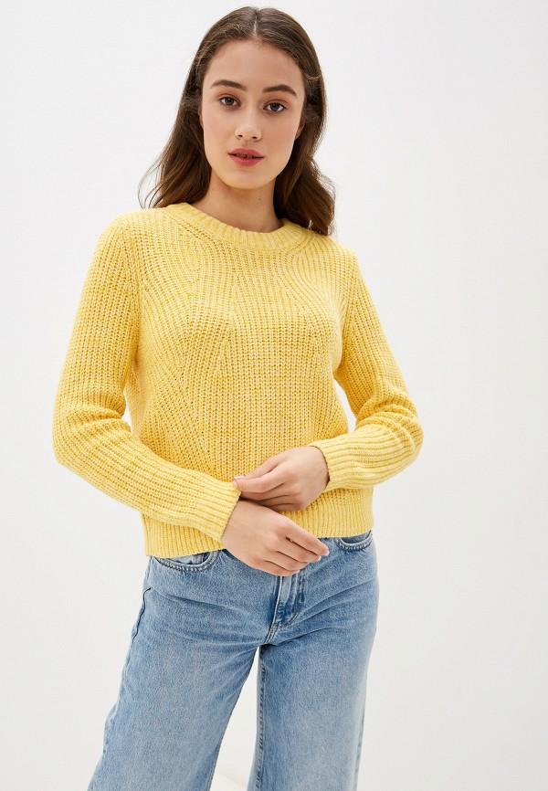 женский джемпер only, желтый