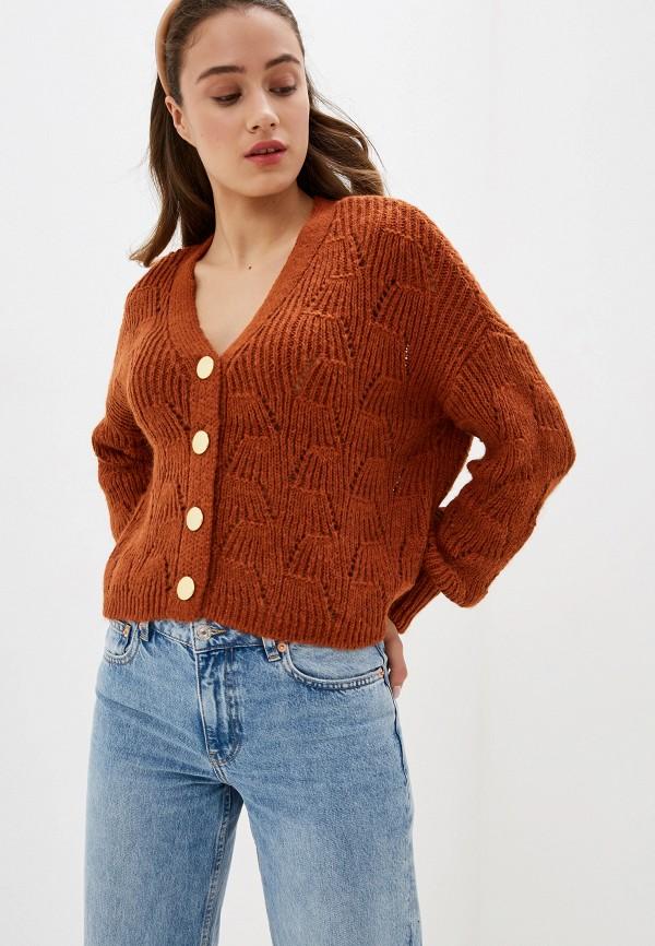 женский кардиган only, оранжевый