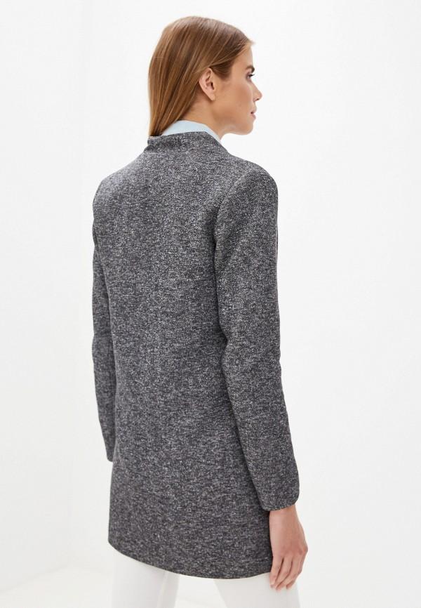 Фото 3 - женское пальто или плащ Only серого цвета