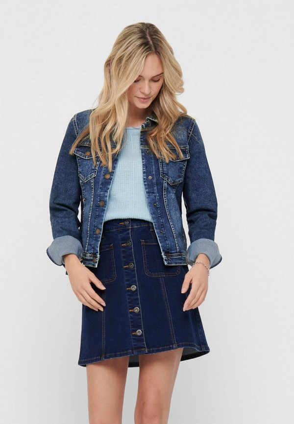 женская джинсовые куртка only, синяя