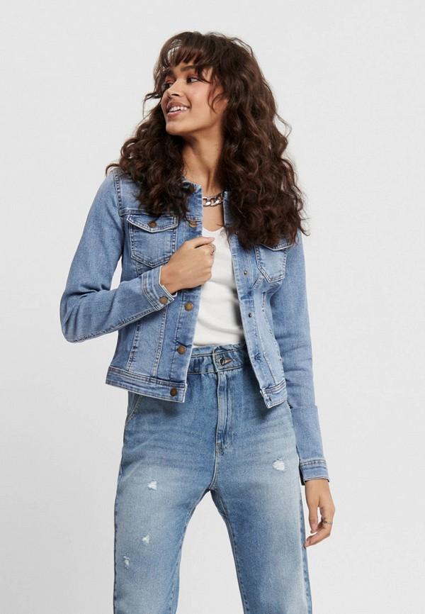 женская джинсовые куртка only, голубая