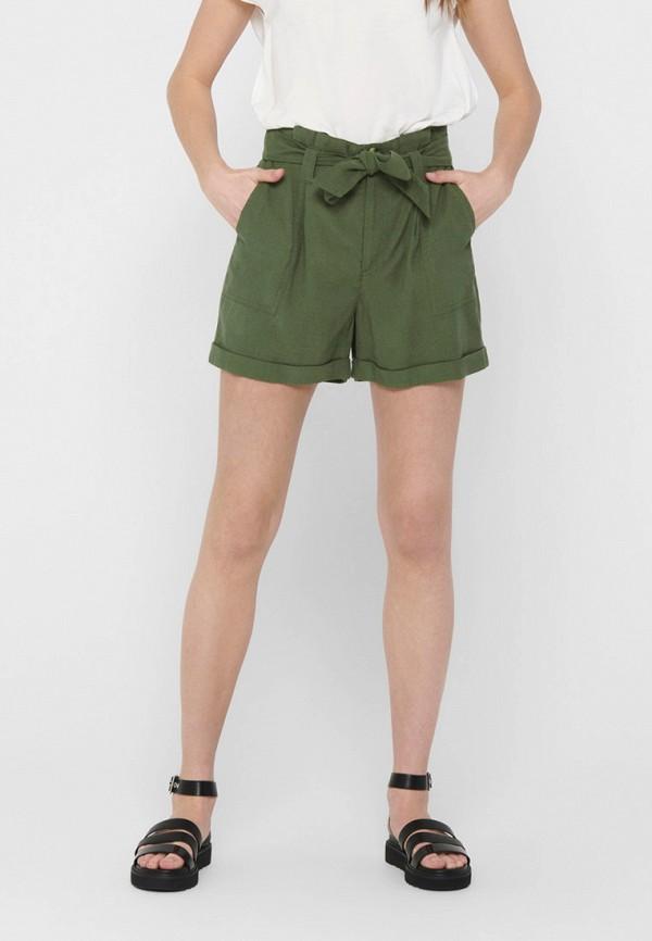 женские повседневные шорты only, зеленые