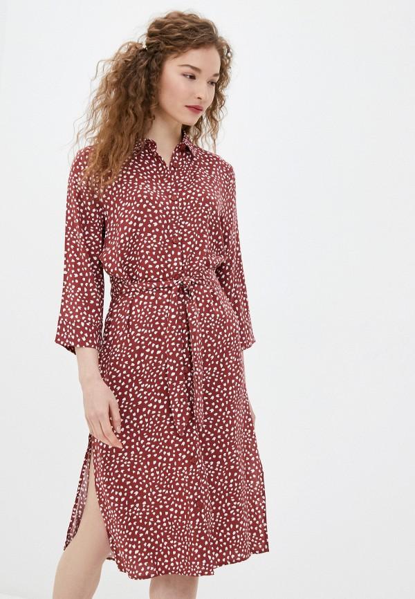 женское платье only, бордовое
