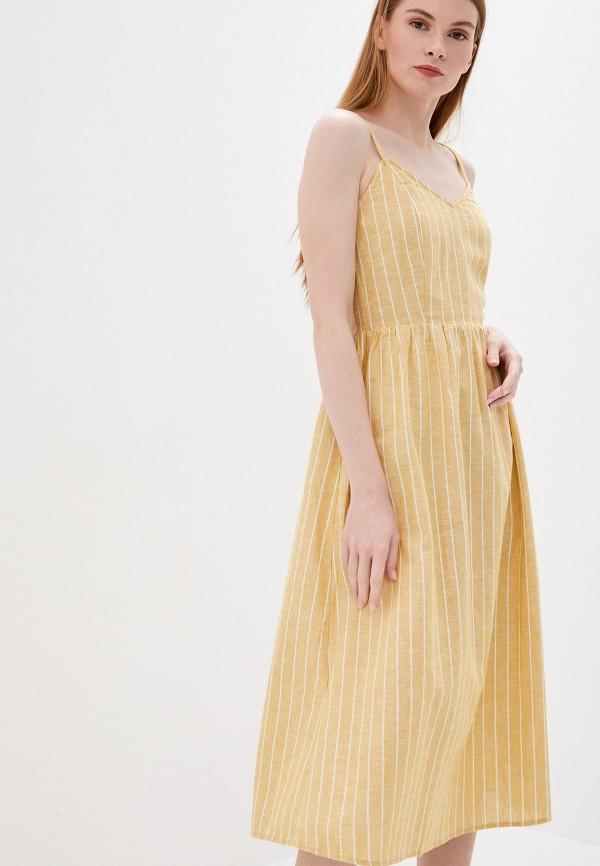 женский сарафан only, желтый