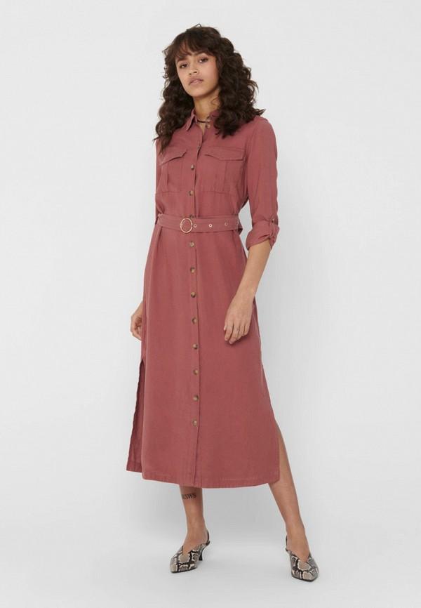 женское платье only, розовое