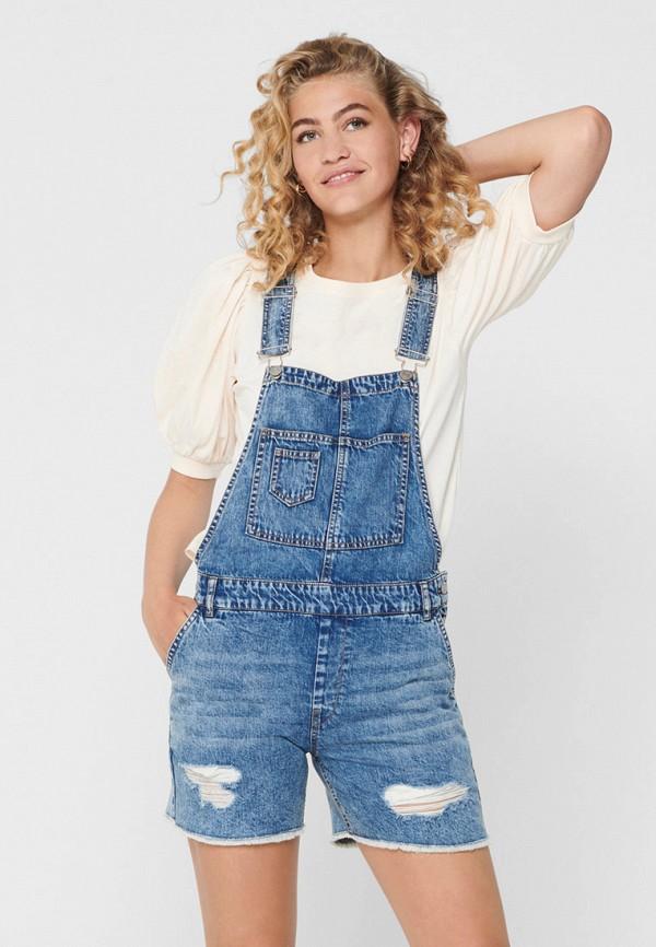 женский джинсовые комбинезон only, голубой