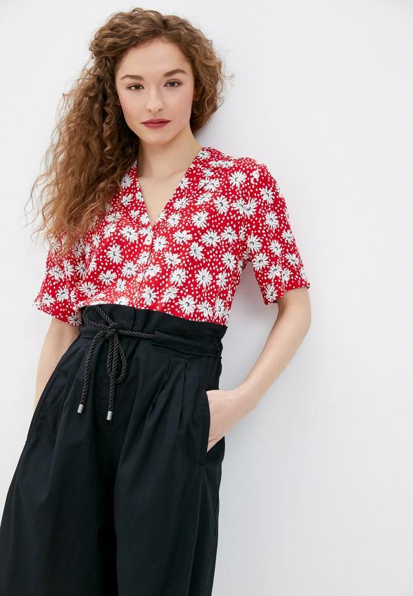 женская блузка only, красная