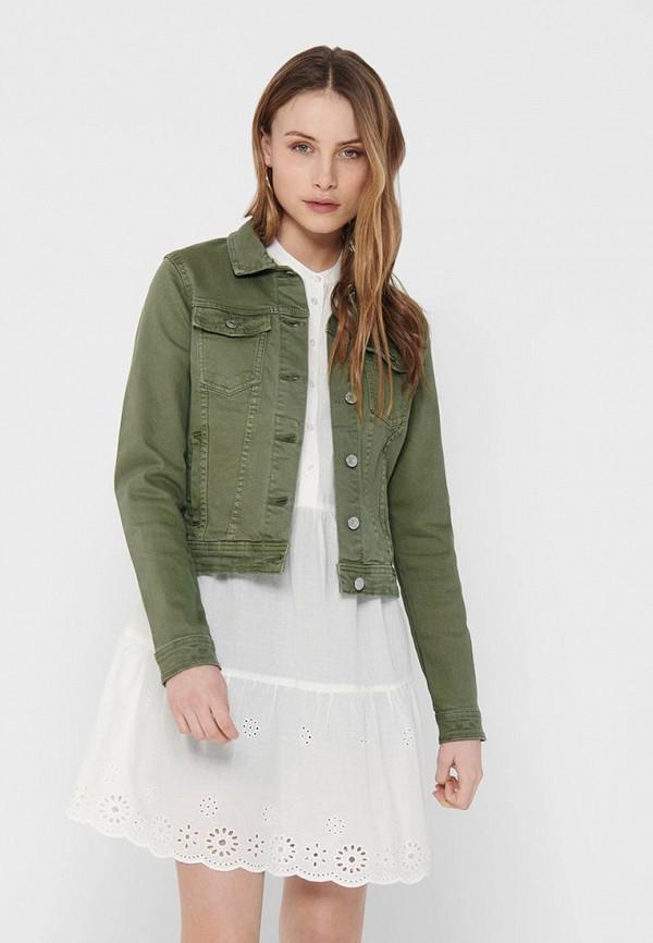 женская джинсовые куртка only, хаки