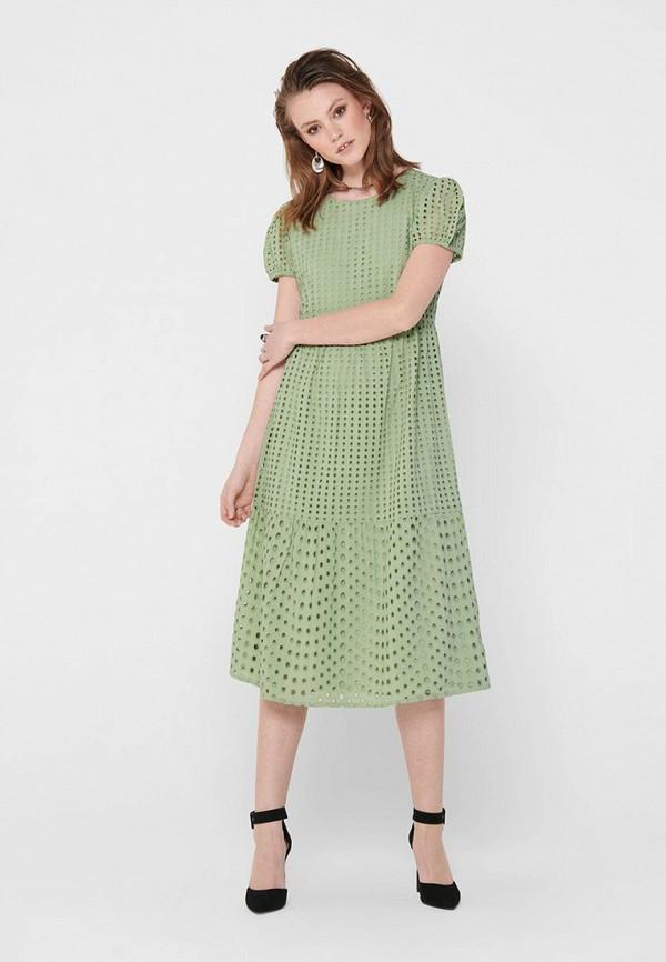 женское повседневные платье only, зеленое