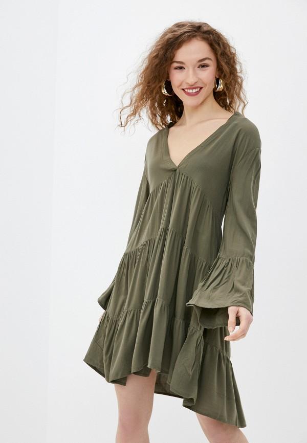 женское повседневные платье only, хаки